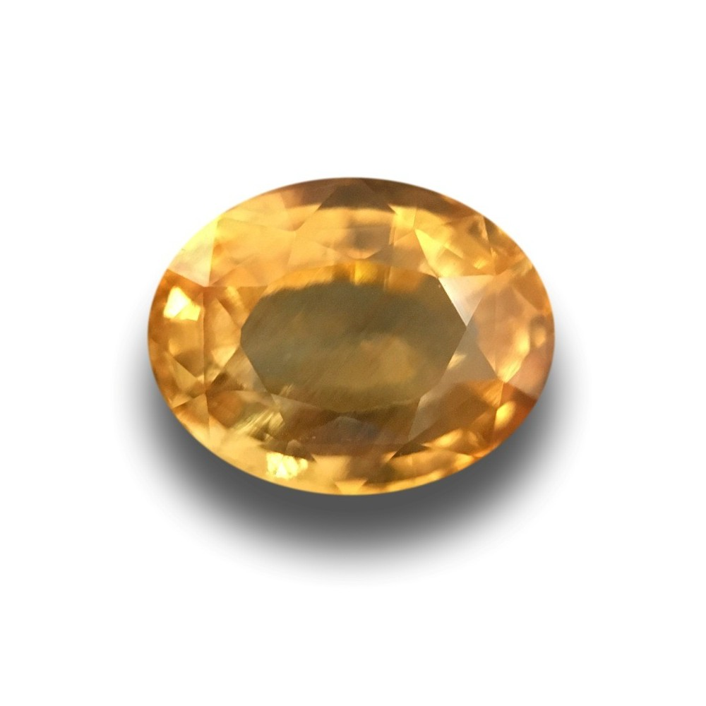 Natural Unheated Yellow Sapphire 1.59 Cts Oval Cut Loose Gemstone
