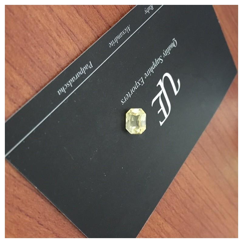 1.52 CTS | Natural Yellow sapphire |Loose Gemstone|New| Sri Lanka