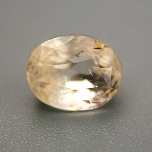 2.15 Carats Natural Unheated light yellow sapphire |Loose Gemstone|New Certified| Sri Lanka