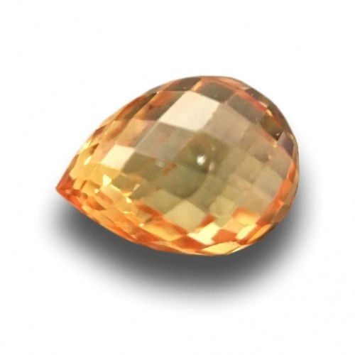 0.58 CTS | Natural Orange sapphire |Loose Gemstone|New| Sri Lanka