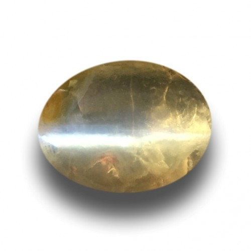 1.33 CTS | Natural Unheated Orange yellow catseye |New| Sri Lanka