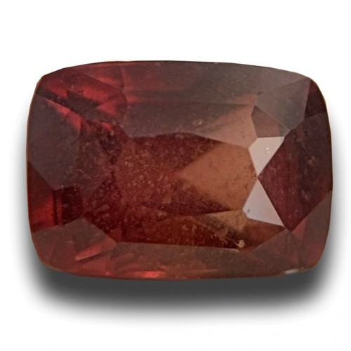 brown auctions unheated orange sapphire cut oval