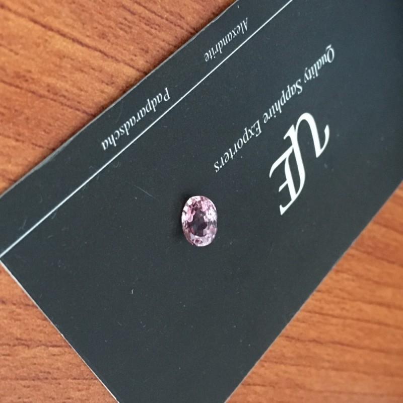 1.24 CTS   Natural Orange Pink padparadscha  Loose Gemstone New  Sri Lanka