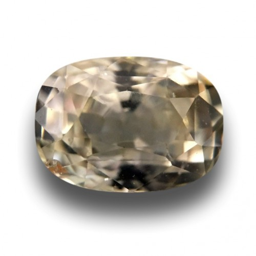2.08 Carats Natural light yellow sapphire |Loose Gemstone|New Certified| Sri Lanka