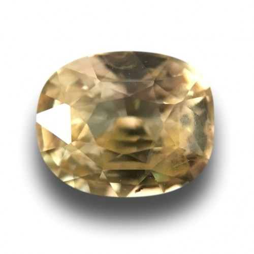 1.38 Carats Natural Yellow sapphire |Loose Gemstone|New Certified| Sri Lanka