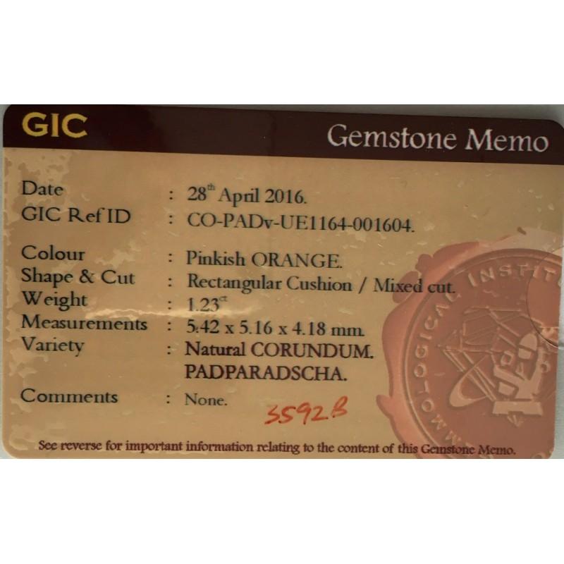 1.23 Carats |Natural Padparadscha |Loose Gemstone|Sri Lanka - New