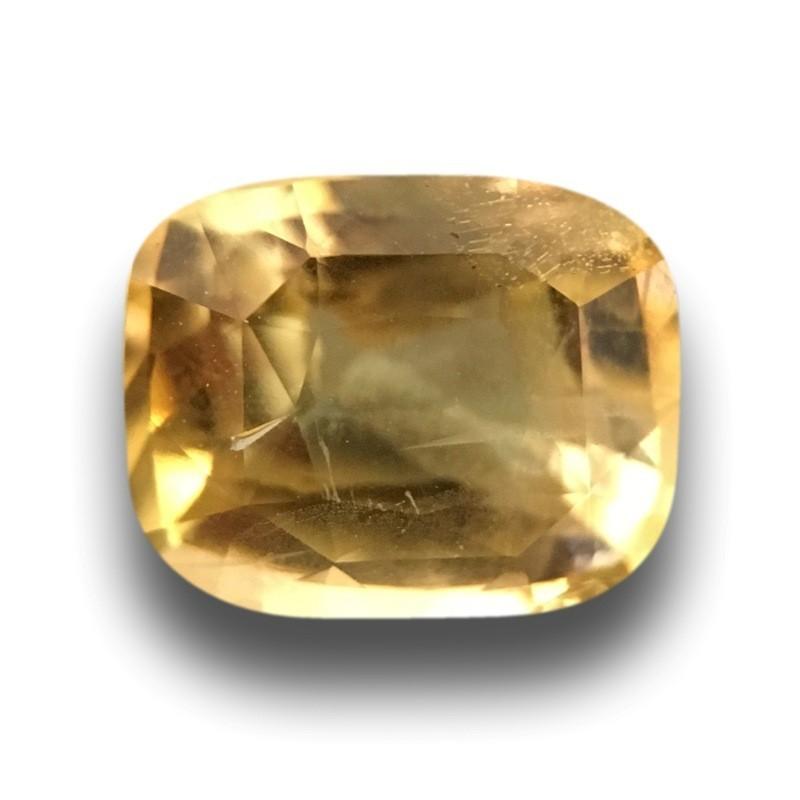 1.58 Carats  Natural Unheated Yellow Sapphire Loose Gemstone Ceylon - New