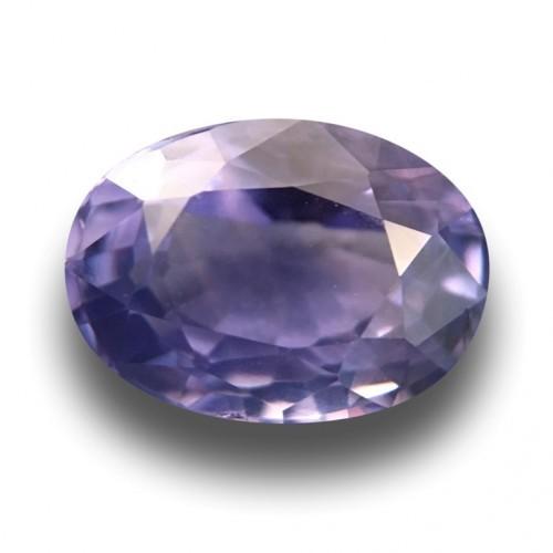 1.9 Carats Natural Unheated violet sapphire|Loose Gemstone|New Certified| Sri Lanka