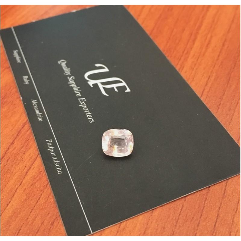 2.79 Carats Natural Pink / orange sapphire Loose Gemstone New Certified  Sri Lanka