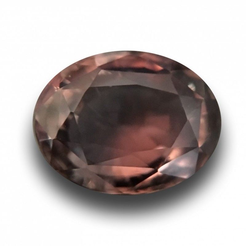 3.15 Carats Natural brownish to purple sapphire |New Certified| Madagascar