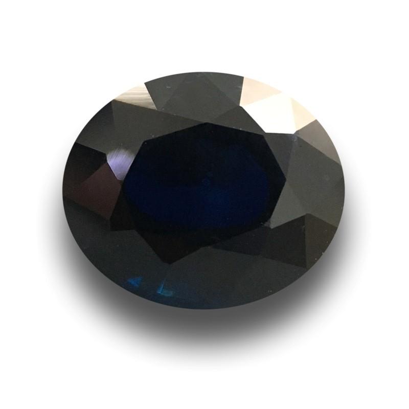 3.54 Carats|Natural Dark Royal Blue sapphire|Loose Gemstone|Sri Lanka-New