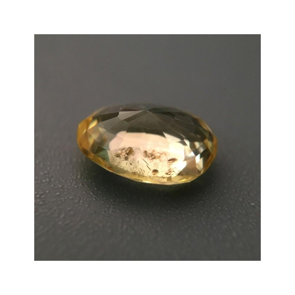 2 04 carats yellow sapphire gemstone ceylon