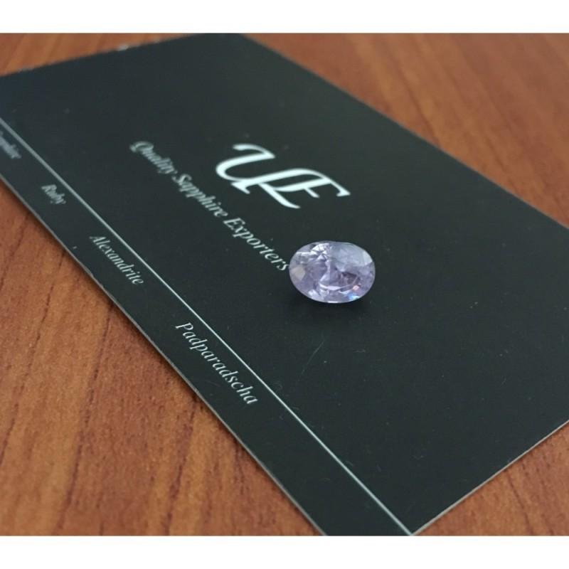 2.75 Carats Natural Unheated Purple Sapphire Loose Gemstone New Sri Lanka
