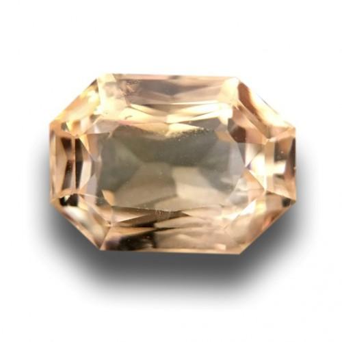 1.14 Carats Natural Unheated Yellow Sapphire Loose Gemstone New Sri Lanka