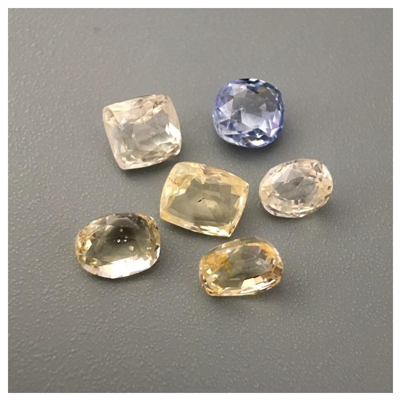 5.09 Carats|Natural Yellow and Blue Sapphire Lot|New|Sri Lanka