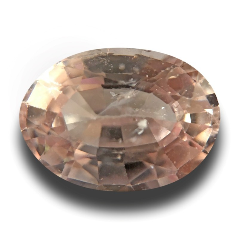 2.76 Carats | Natural Pinkish orange sapphire |Loose Gemstone|New| Sri Lanka