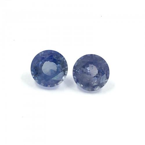 1.15/1.04 Carats | Natural Blue Sapphire Pair |Loose Gemstone|New| Sri Lanka