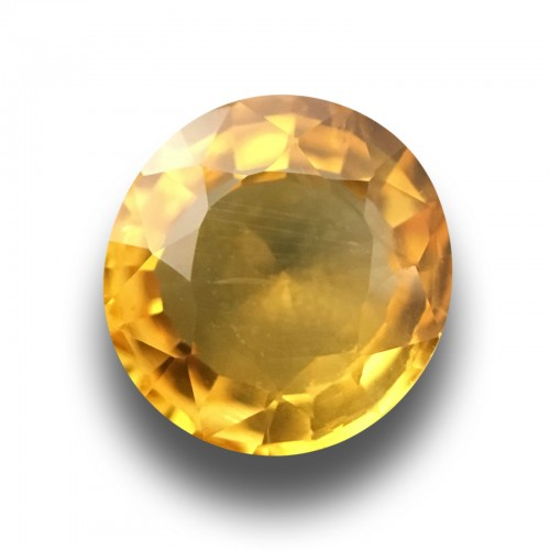 1.50 CTS|Natural Yellow Sapphire|Loose Gemstone|Certified|Ceylon - NEW