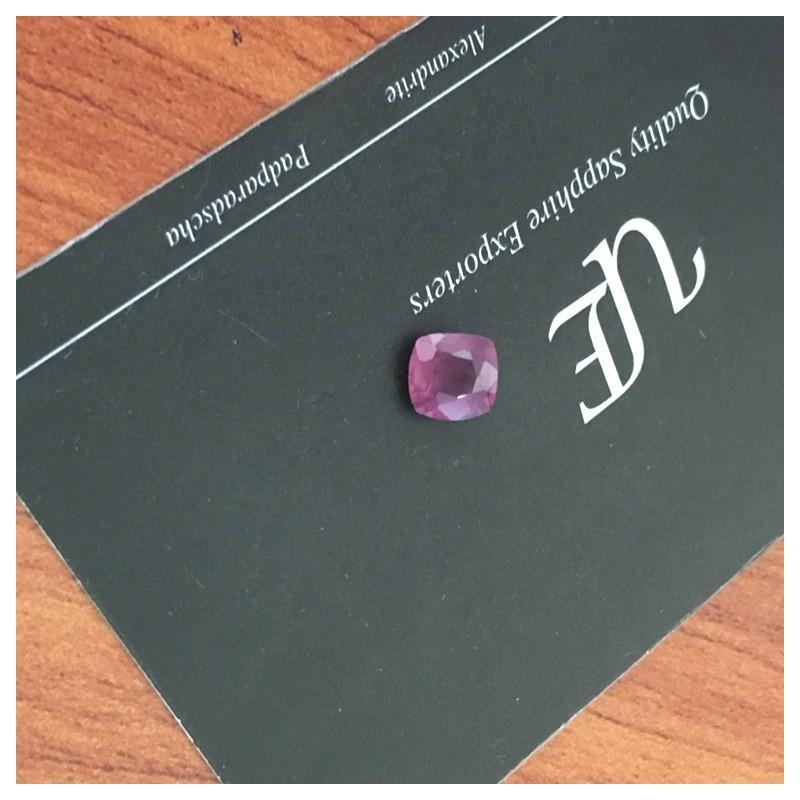 1.7 Carats | Natural Orange Pink sapphire |Loose Gemstone|New| Sri Lanka