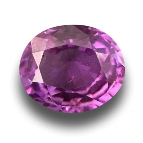 1.14 CTS Natural Pinkish Purple Pink Purple Sapphire |Certified