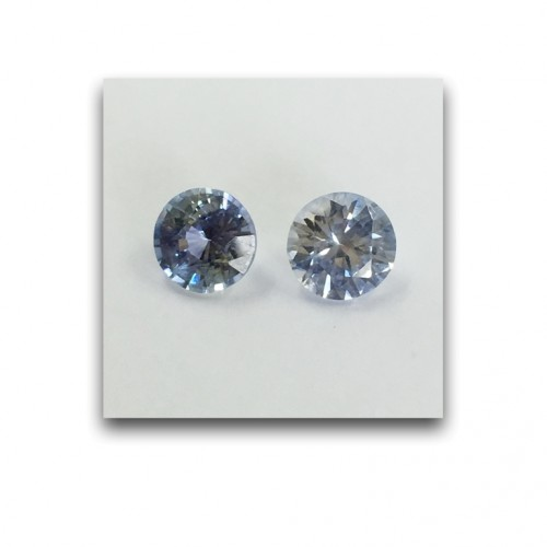 1.09/1.06 Carats | Natural Light Blue Sapphire|Loose Gemstone|New| Sri Lanka