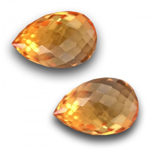 0.74 & 0.61 Carats Natural Orange Yellow sapphire |Loose Gemstone|New| Sri Lanka