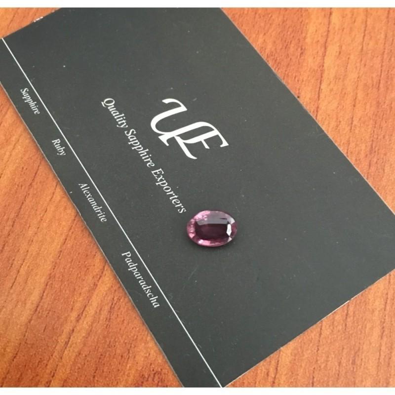 2.69 CTS | Natural Unheated Pinkish Orange purple sapphire |Loose Gemstone| Sri Lanka