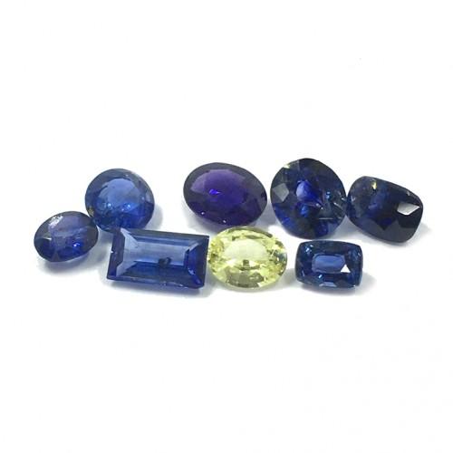 5.79 Total Carats   Natural Blue & Yellow Sapphire Lot   Sri Lanka - New