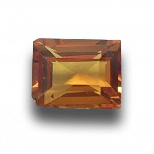 1.57 CTS   Natural orange sapphire  Loose Gemstone New  Sri Lanka