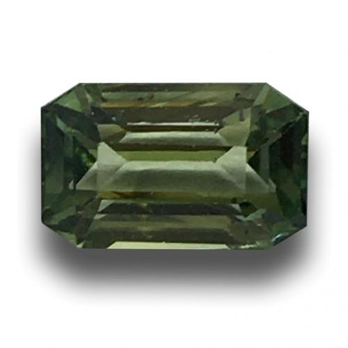 1.39 CTS Natural Unheated Green sapphire |Loose Gemstone| Sri Lanka