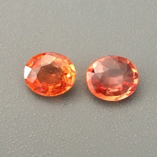 0.47 , 0.48 CTS | Natural orange sapphire |Loose Gemstone|New| Sri Lanka