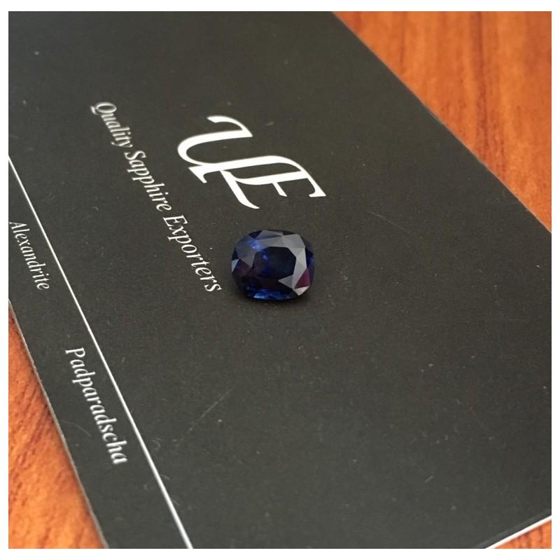 1.52 CTS   Natural Deep Royal Blue sapphire  Loose Gemstone New  Sri Lanka