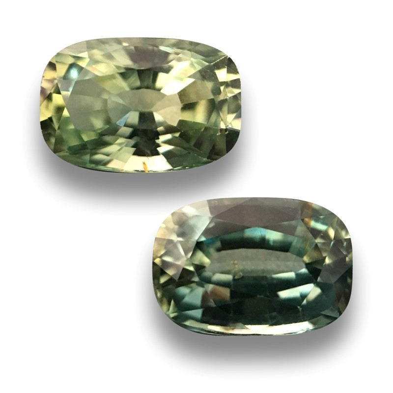 1.33 & 1.19 CTS | Natural Unheated Green sapphire |Loose Gemstone|New| Sri Lanka