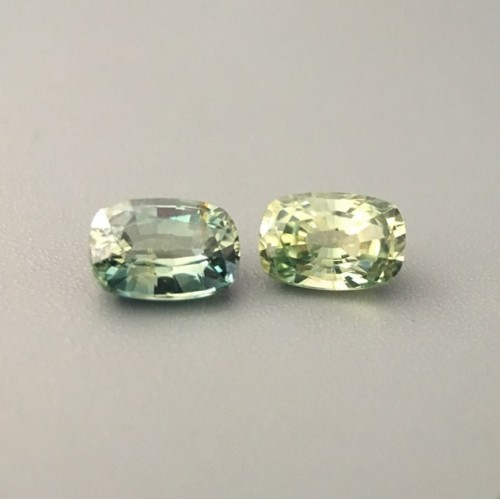 1.33 & 1.19 CTS | Natural Unheated Green sapphire |Loose Gemstone|New| Sri Lanka