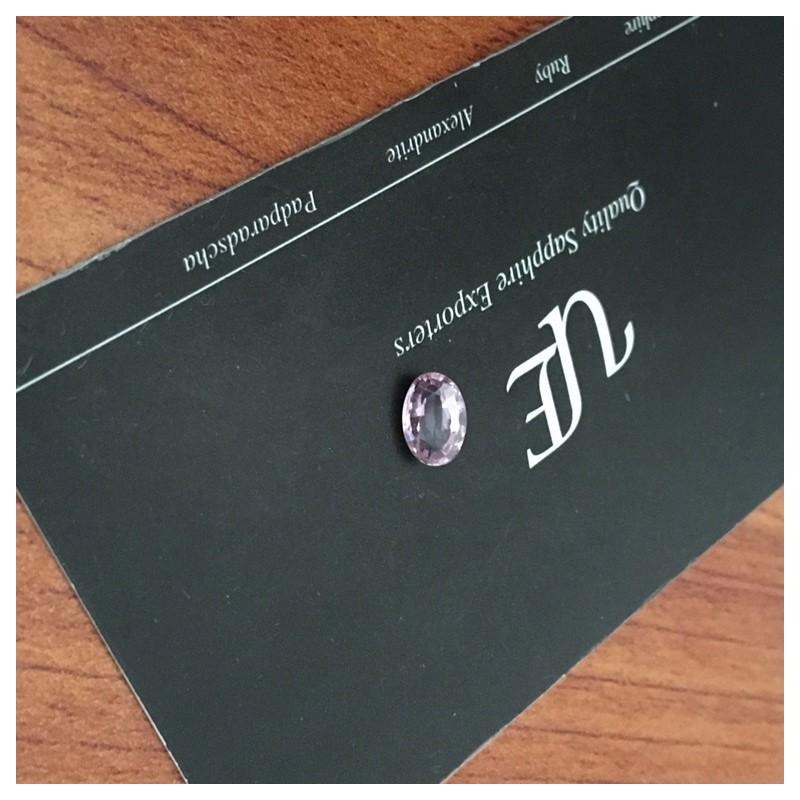 1.1 CTS   Natural Unheated Orange Pink sapphire  Loose Gemstone New  Sri Lanka